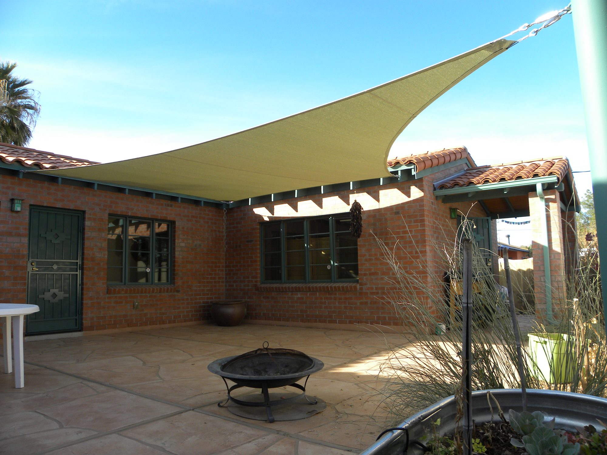awning sun gutters awnings home beautiful deck all about shade of