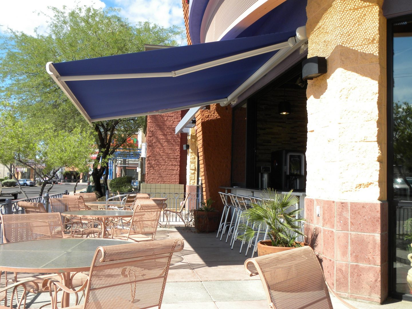 Commercial Retractable Awnings for your business.